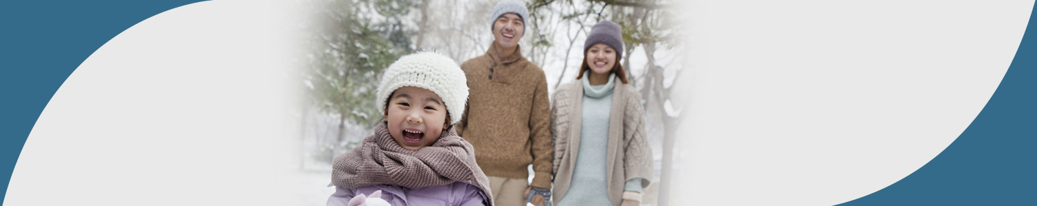 Illinois Eye Center Blog - Family Playing in Snow